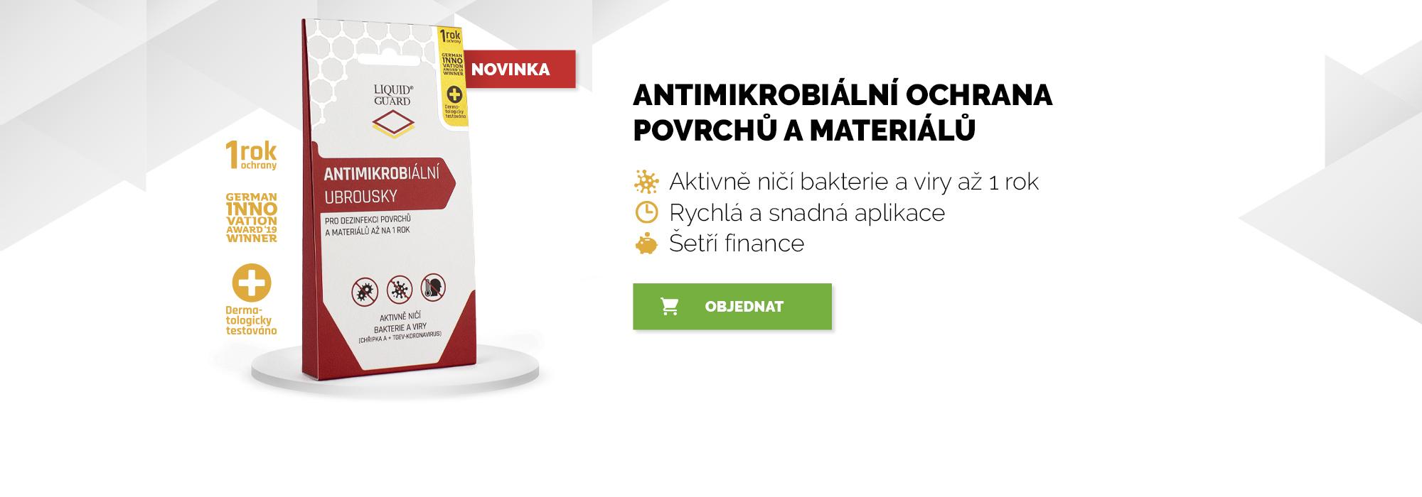 Liquid Guard - Antimikrobiální ochrana povrchů a materiálů