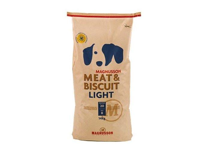 krmiva pro dospele psy 5 magnusson meat biscuit light 14kg
