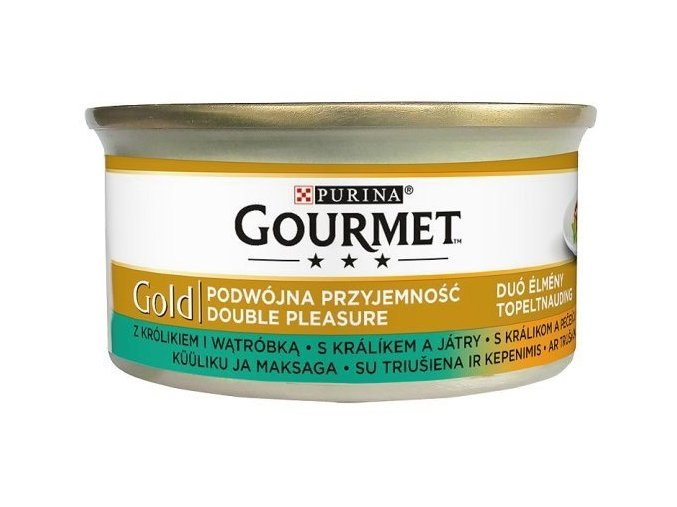 Gourmet Gold duo králík & játra 85 g