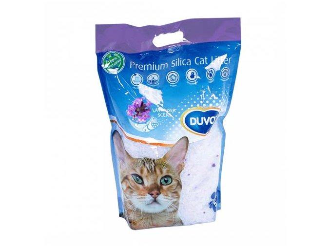 Duvo+ Podestýlka Cat silikagel levandule 5 l