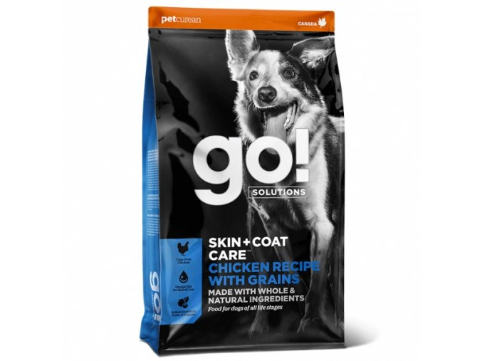 petcurean go skin coat chicken dog 11 4 kg