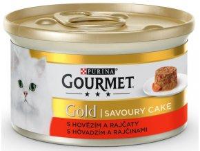 Gourmet Gold Savoury Cake KK S hovězím & rajčaty 85 g