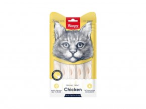 129779 wanpy cat creamy lickable treats chicken 5 x 14 g