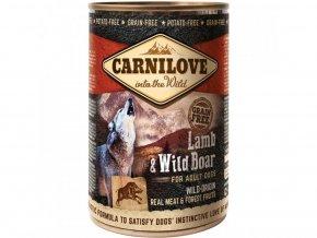 10758 carnilove dog wild meat lamb wild boar 400 g