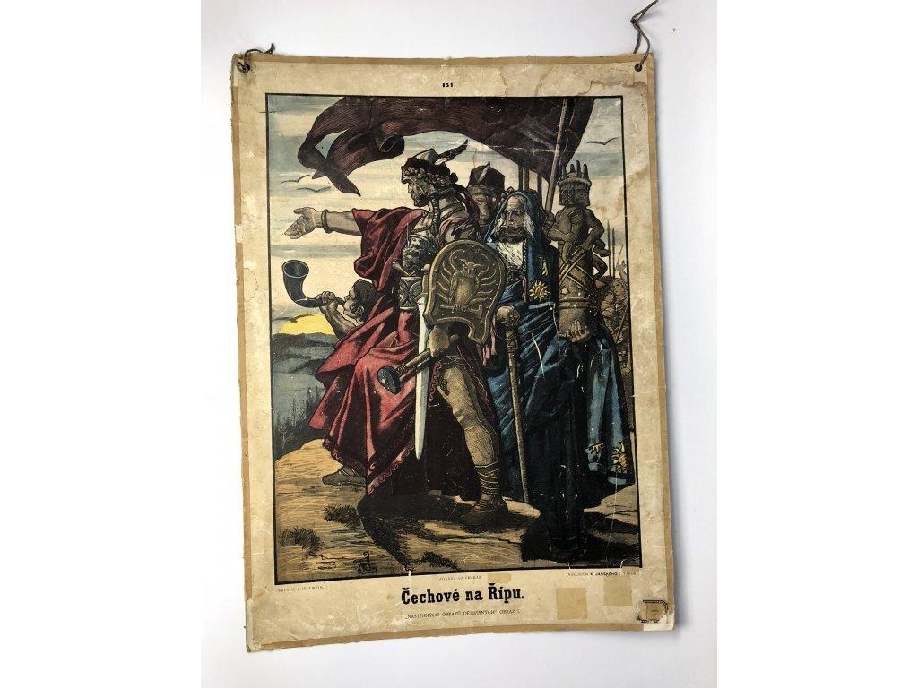 Školní plakát Čechové na Řípu