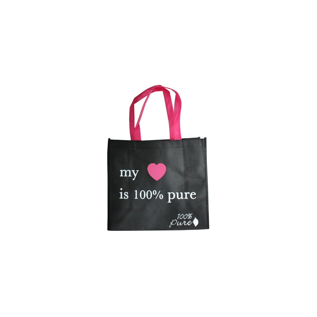 1ABNWSB My Heart is 100 Pure Shopping Bag Primary