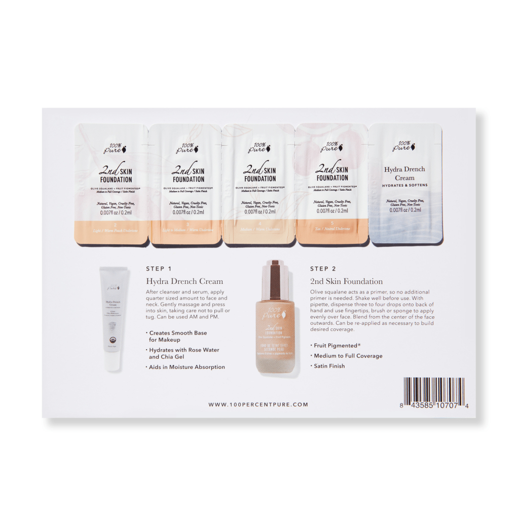 sample card 2nd skin foundation