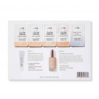 sample card 2nd skin foundation