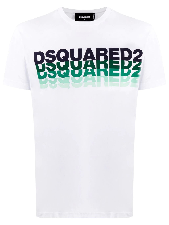 dsquared2 S74GD0814 panske tricko biele logo white