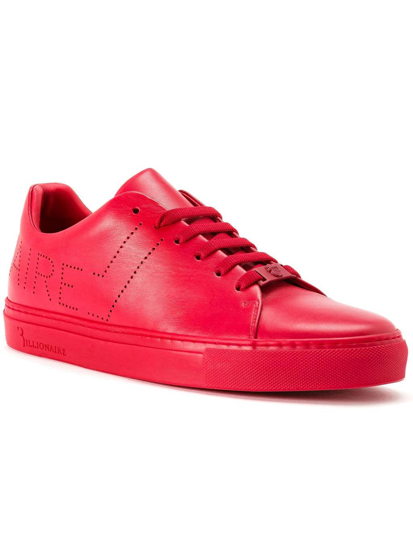 O18S MSC1625 BLE042N 13 lo top sneakers original red billionaire pánske tenisky červené