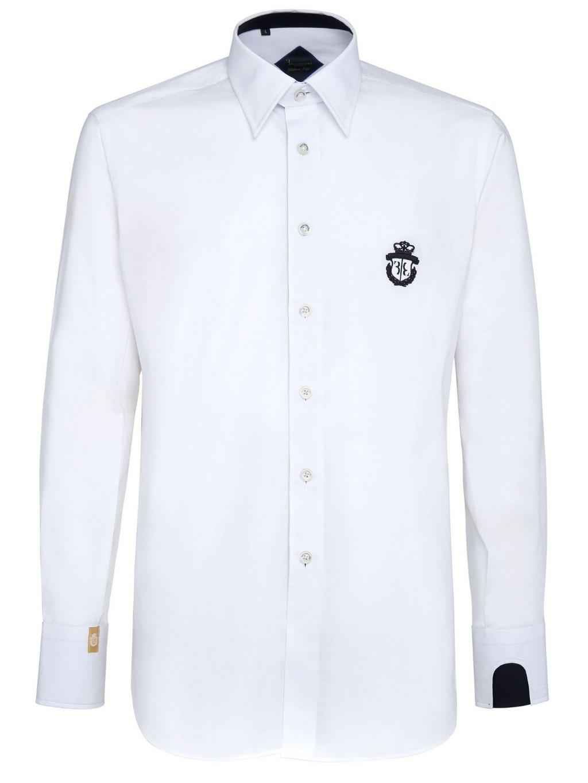 O18C MRP0745 BTE002N 01 shirt silver cut milano crest billionaire white pánska košeľa 1