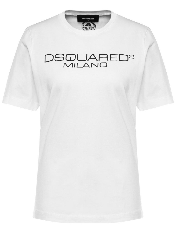 DSQUARED2 Logo print white dámske tričko
