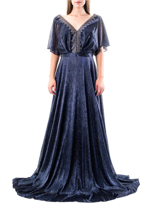 FOR COSTUME šaty tmavomodré 6393 dámske (2)