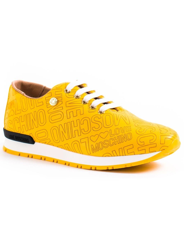 love moschino embossed giallo damske tenisky JA15022G13ID0400 zlte (3)