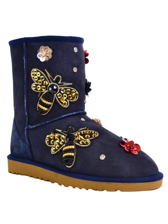roberto serpentini rsstrww1487 dámske snehule topánky modrá (4)