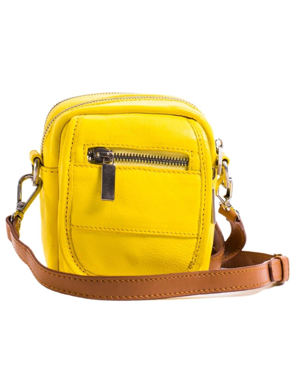 sara burglar mini bag panska crossbody taska zlta (1)