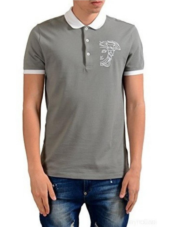 versace collection men s gray short polo shirt Značka: Versace Collection Model: V800604S V5J300