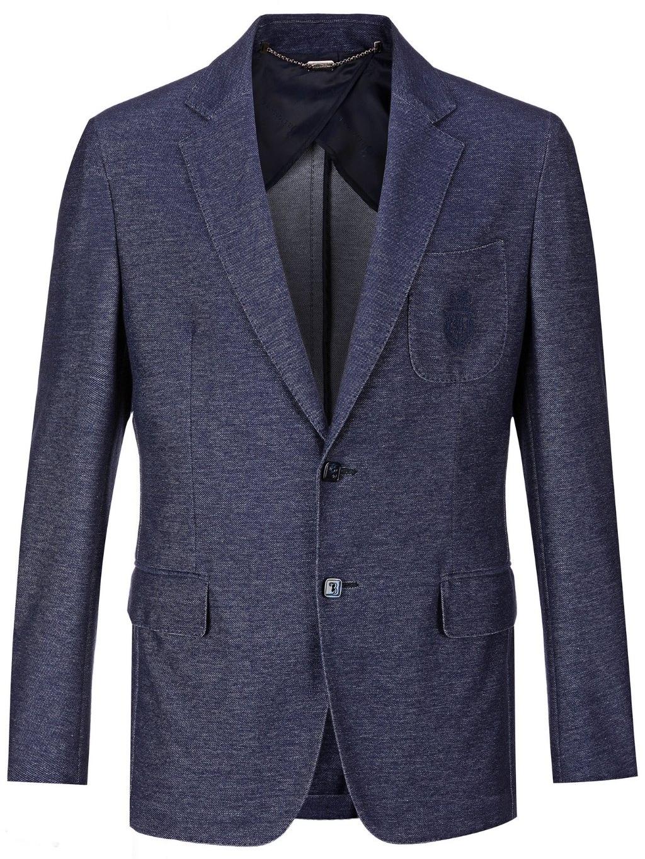 O18C MRF0680 BTE004N blazer crest dark blue billionaire pánske sako modré