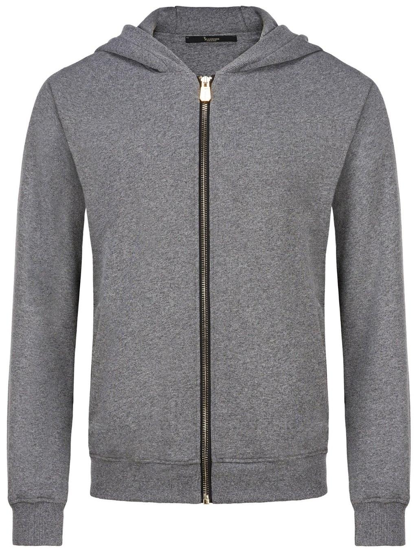 O18C MJB0638 BTE011N 10 hoodie sweatjacket double lion billionaire pánska mikina na zips sivá 1