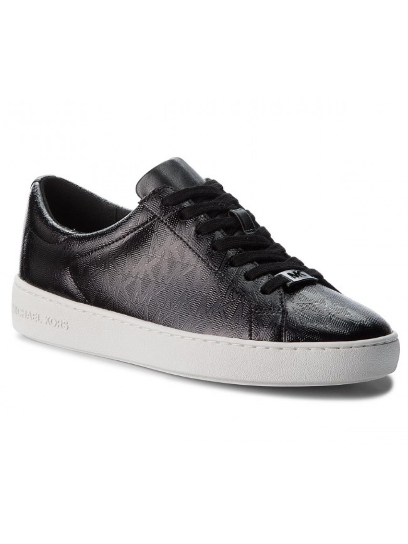 michael kors keaton lace up embossed pu 43T8KTFS1A black white dámske topánky tenisky čierne biele mk vzor (2)