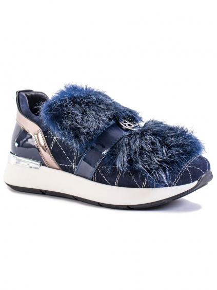 baldinini camoscio navy 8950A damske tenisky modre (1)