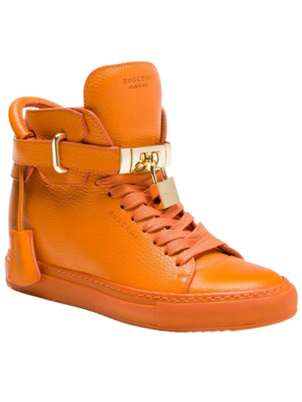 buscemi 100mm alta orange dámske tenisky oranzove (6)
