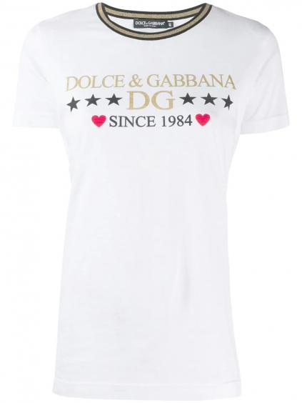 DOLCE & GABBANA dámske tričko zlaté  F8H32TG7TBM
