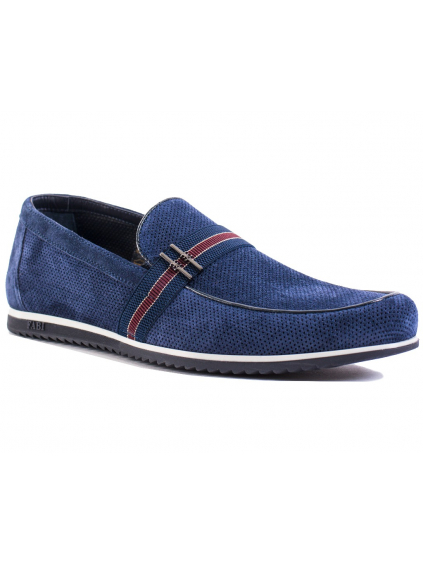 fabi navy scarpe FU8484 panske mokasiny modre (2)