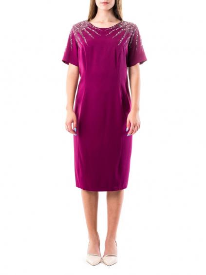 FOR COSTUME šaty bordové 6148 (3)