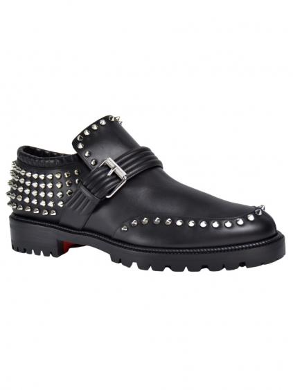 christian louboutin black madame mix spike studded loafers booties flats size eu 39 approx us 9 regu 2 0 960 960