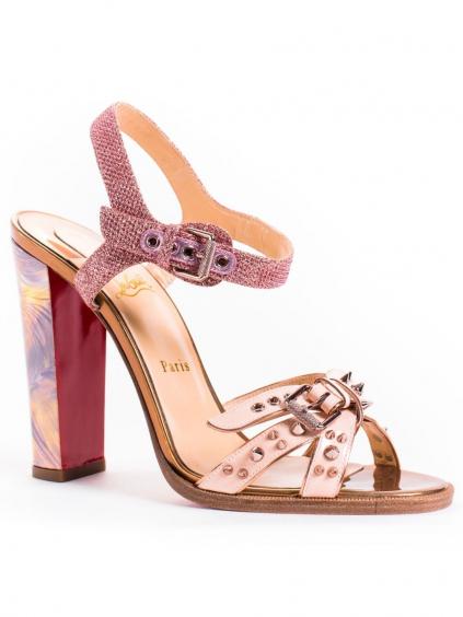 christian louboutin miss roma 1170846 damske sandale ruzova zlata (3)