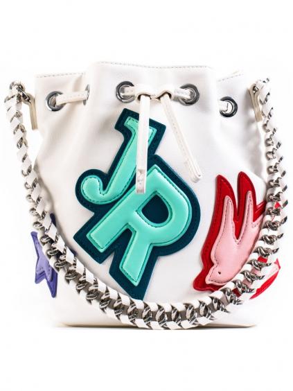john richmond harvey bucket bag offwhite damsky batoh biely (2)