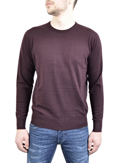 PIERRE BALMAIN Bordo - pánsky sveter