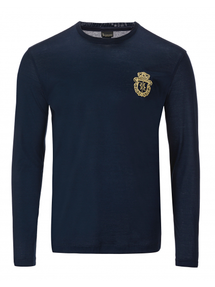 O18C MTK2634 BTE014N 14 ls crest billionaire dark blue pánske tričko