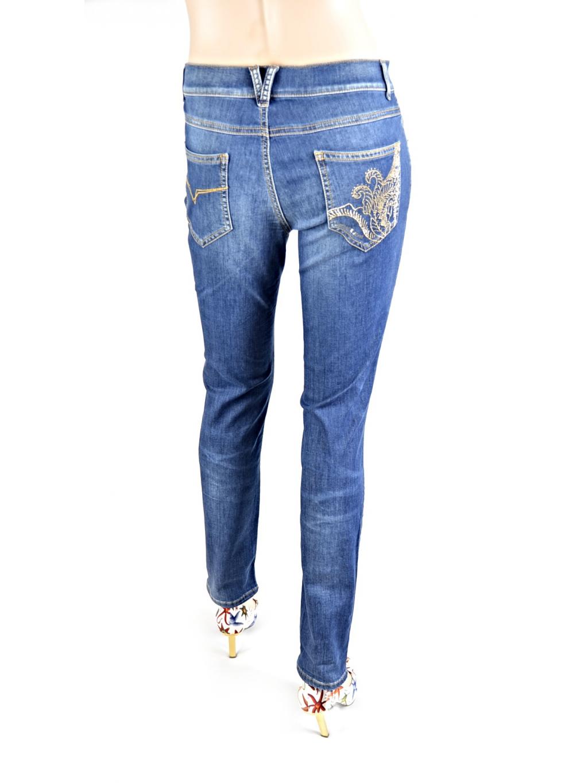 50cc672780f5 Dámske džínsy VERSACE Jeans modré