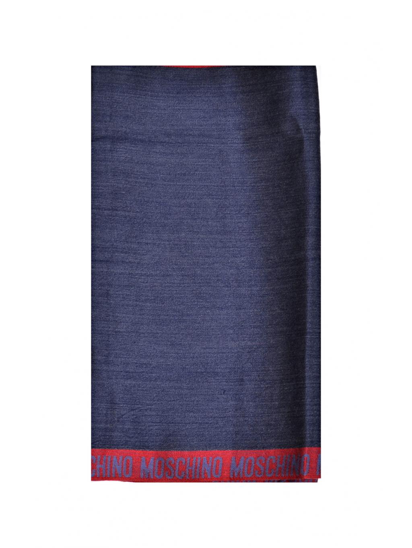 b734b33e2 Moschino dámska, pánska šatka modrá. Pravý hodváb a vlna