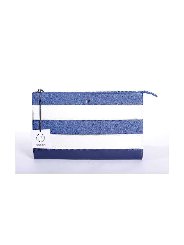 25d2588045 jennifer lopez jlo modrá biela listová dámska kabelka 1