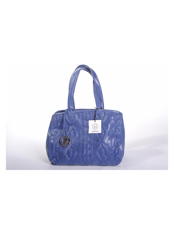 jennifer lopez jlo eko koža modrá dámska kabelka extravagantná