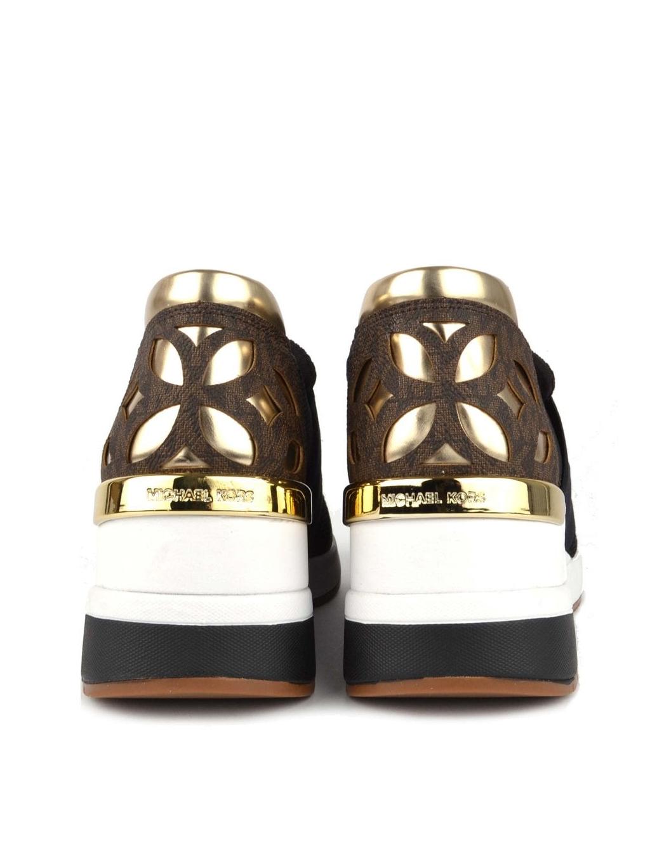04cc5660e9 ... michael kors felix trainer mesh 43T8FXFS6D blk brown gold dámske  topánky tenisky čierne hnedé zlaté ...