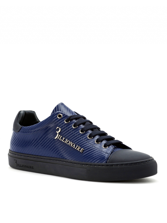 b55913b94a O18S MSC1686 BTE004N 14 lo top sneakers original dark blue billionaire  pánske tenisky modré