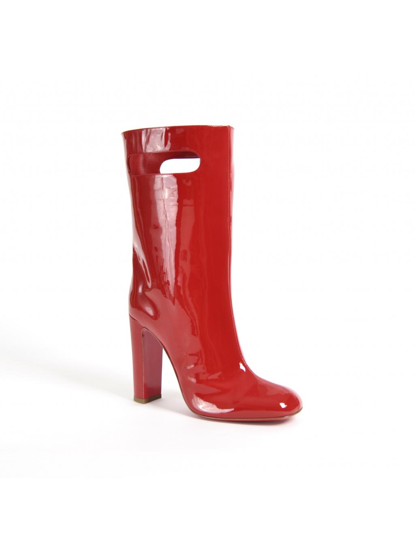 christian louboutin bag bootie tomette patent 3170849 dámske čižmy červené (6)