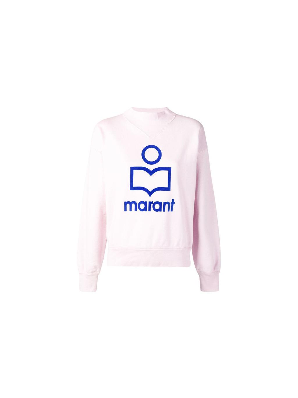 fea088368740 isabel marant moby pink SW003319P043E damska mikina ruzova (2)