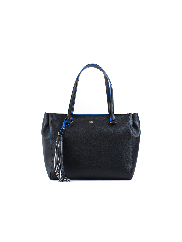 cavalli class city diva shopping bag blu black damska kabelka cierna modra (1)
