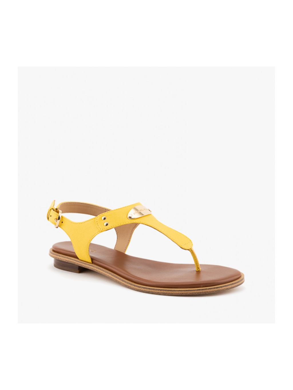 michael kors plate thong leather yellow damske zabky zlte (1)
