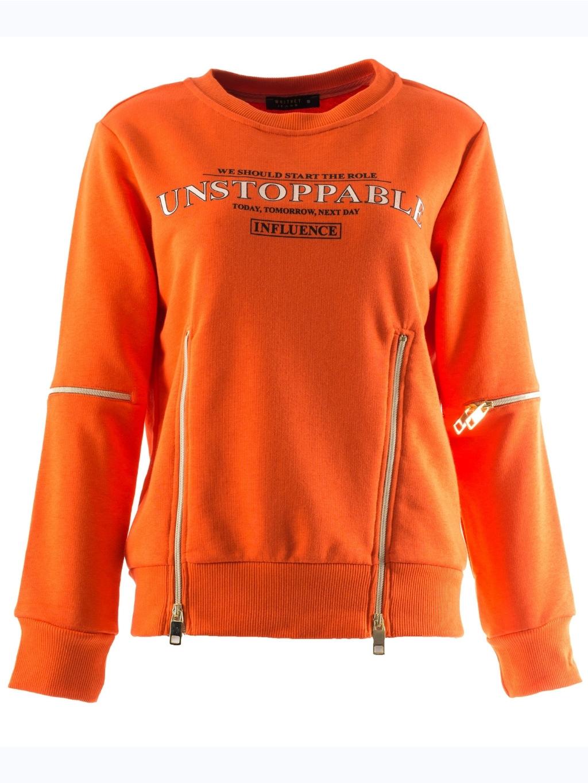 Whitney Jeans Orange mikina (3)