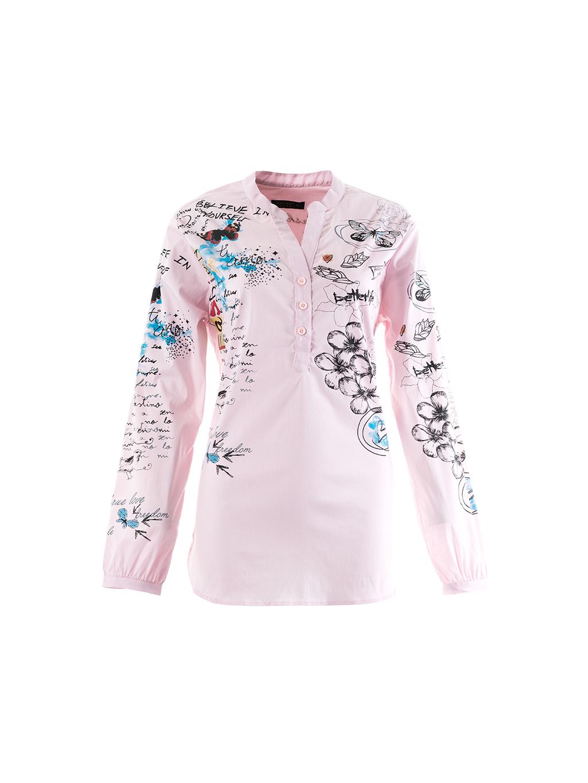 WHITNEY JEANS Toronto dámska košeľa ružová (1)