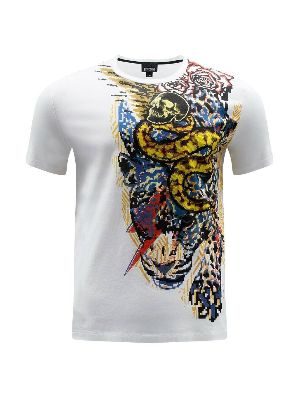 mix Just Cavalli Tiger - pánske tričkoS01GC0509N20663