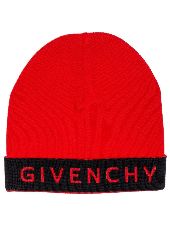 GIVENCHY Logo červená čiapka (2)