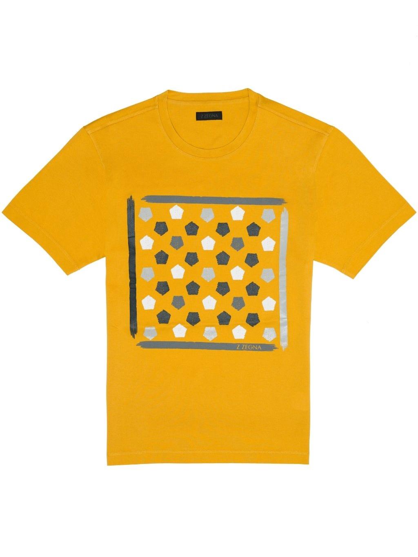 Z Zegna pánske tričko žlté (1)