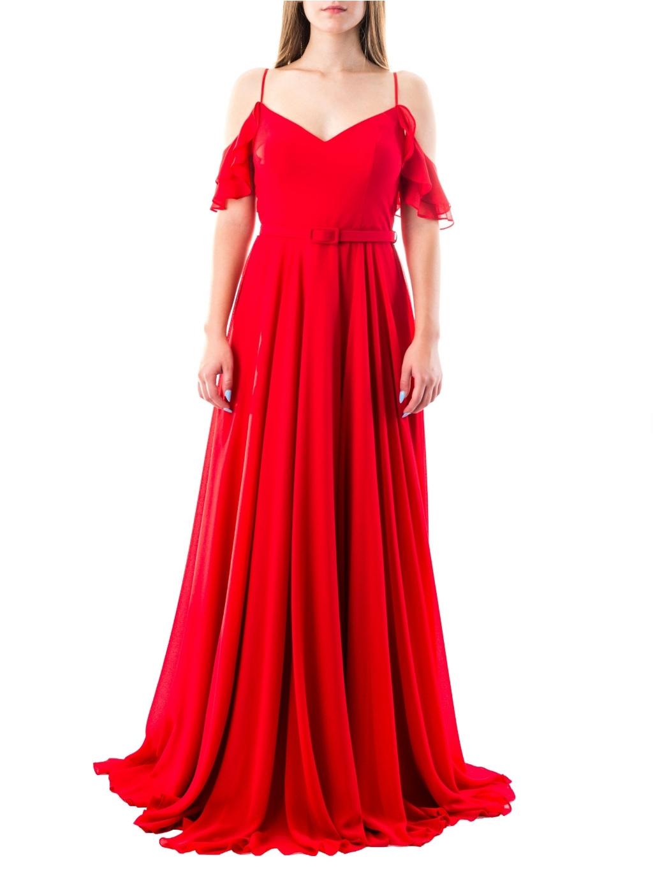 FOR COSTUME Red spoločenské šaty (6)